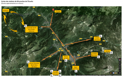 Plan des stations de ski: