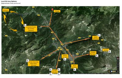 Ski area map:
