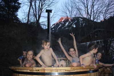 The Hot Tub: Kids enjoying the hot tub