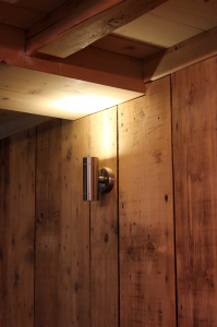 Detail: Dining room lighting