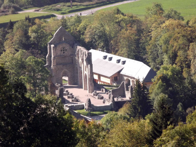 The Abbaye: Abbaye de Saint Jean d'Aulps from above
